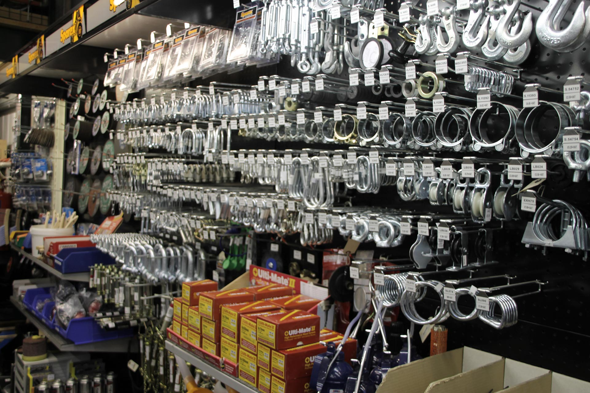 Extensive range of hardware and ironmongery